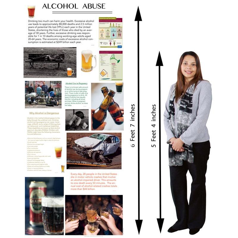 Retractable Alcohol Poster 33.5 x 79